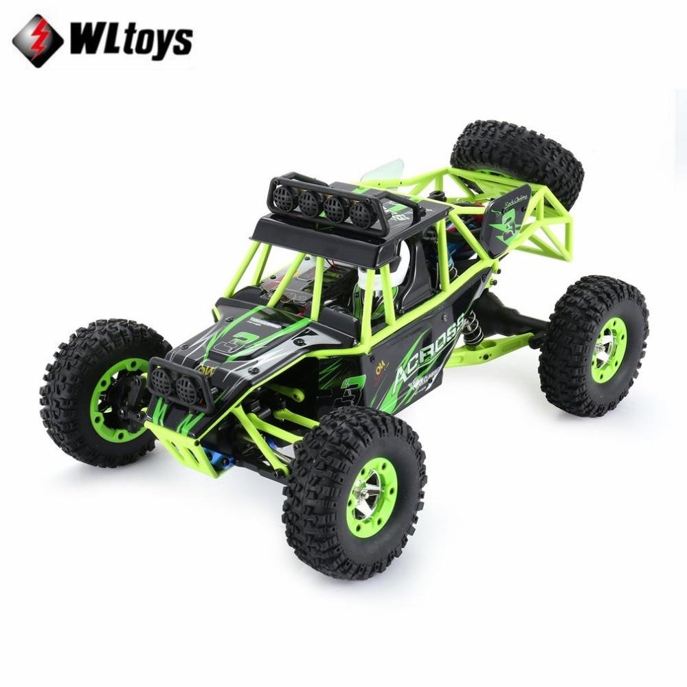 Original Wltoys 12428 RC escalada coche juguetes 1/12 de escala 2,4g 4WD Control remoto coche rc 50 km/h de alta velocidad RC vehículo Off-road regalo