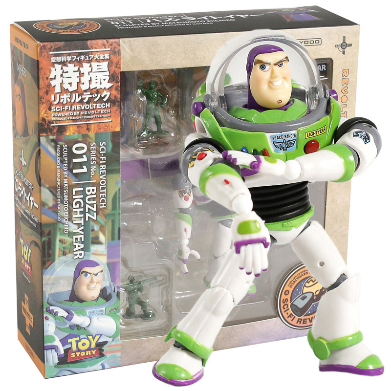 Revoltech Series NO.011 Toy Story Buzz Lightyear PVC Action Figure Collectible Model Toy hatsune miku winter plush doll
