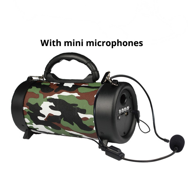 Portable speaker column Bluetooth speaker outdoor subwoofer bass wireless speaker mini oven speaker FM TF in Outdoor Speakers from Consumer Electronics
