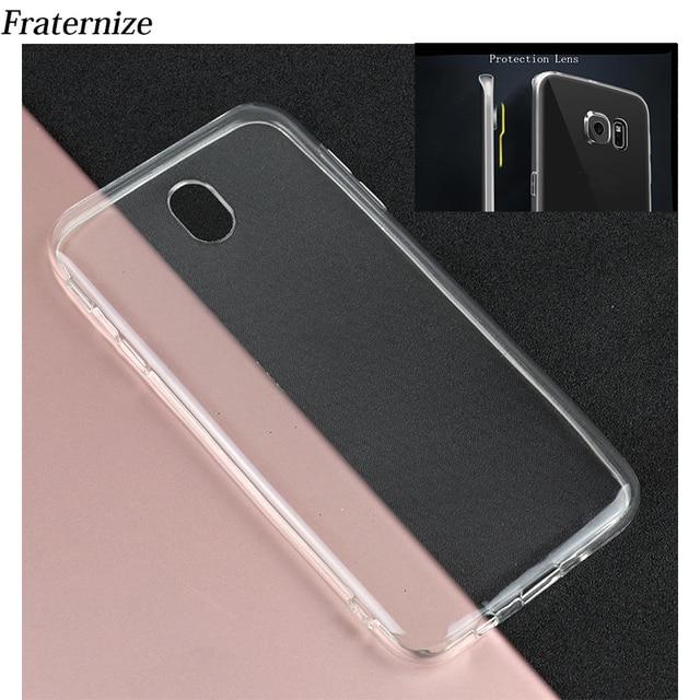 Прозрачный силиконовый чехол для Samsung Galaxy J5 2017 j530 J7 2017 J7 Pro J3 2017 ЕС чехлов из термопластичного полиуретана (TPU) Защита задняя крышка объектива