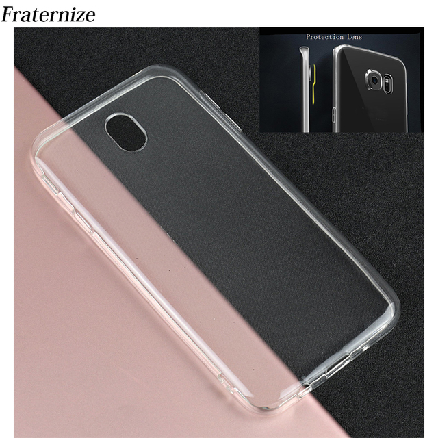 uk availability 91fd9 9652b US $0.99 30% OFF|Transparent Silicone case For Samsung Galaxy J5 2017 J530  J7 2017 J7 Pro J3 2017 EU Clear Soft TPU protection Lens Back Cover-in ...