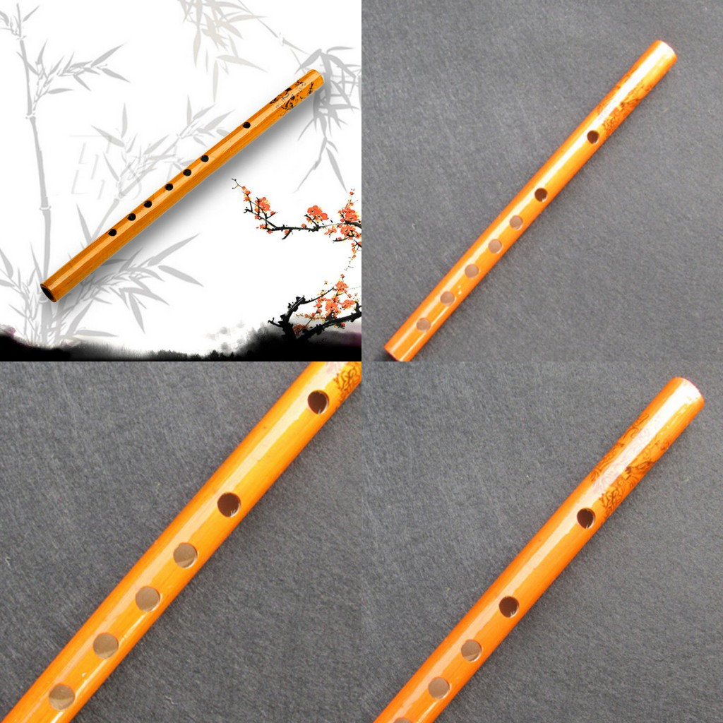 2019 Hot Chinese Traditional 6 Holes Bamboo Flute Vertical Flute Clarinet Student Musical Instrument Wooden Color