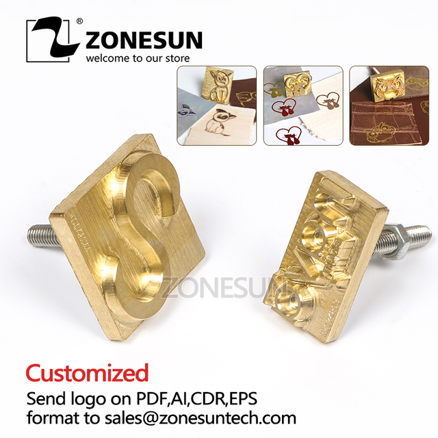 ZONESUN Custom LOGO Hot Brass Stamp CECILE Iron Mold with Logo Personalized Mold heating on Wood Leather league DIY gift