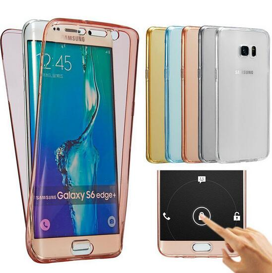 For Galaxy s6 Case Transparent Full Front and Back Cover for Samsung s6 edge G9200 G9250 s5 s4 s7 edge note 3 4 5 Phone Cases