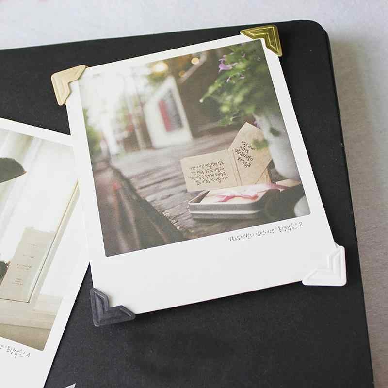 120 Cái/lốc (5 Tờ) tự Làm Vintage Góc Kraft Giấy Dán Album Ảnh Khung Trang Trí Thêu Sò Miễn Phí Vận Chuyển 604
