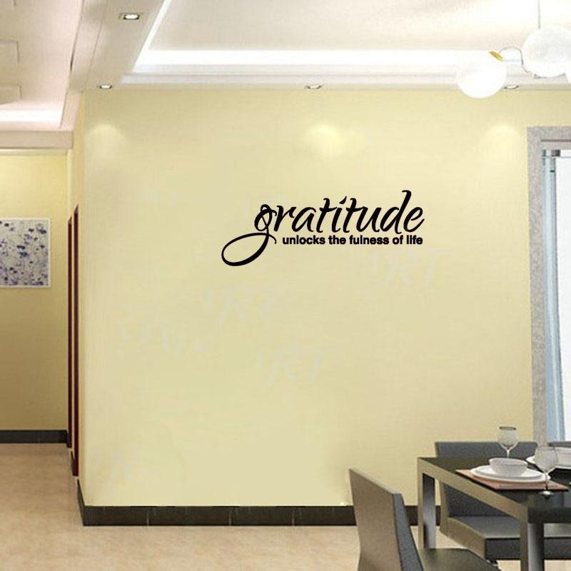 Online Shop Art Removable Lettering Decorative Gratitude Unlocks The ...