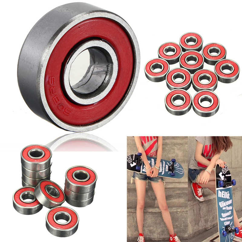 High Quality 10Pcs 608zz Skating Rolling Skateboard Longboard Wheel Skate Bearings Roller ABEC-7 Set For Skate Shoes Scooter