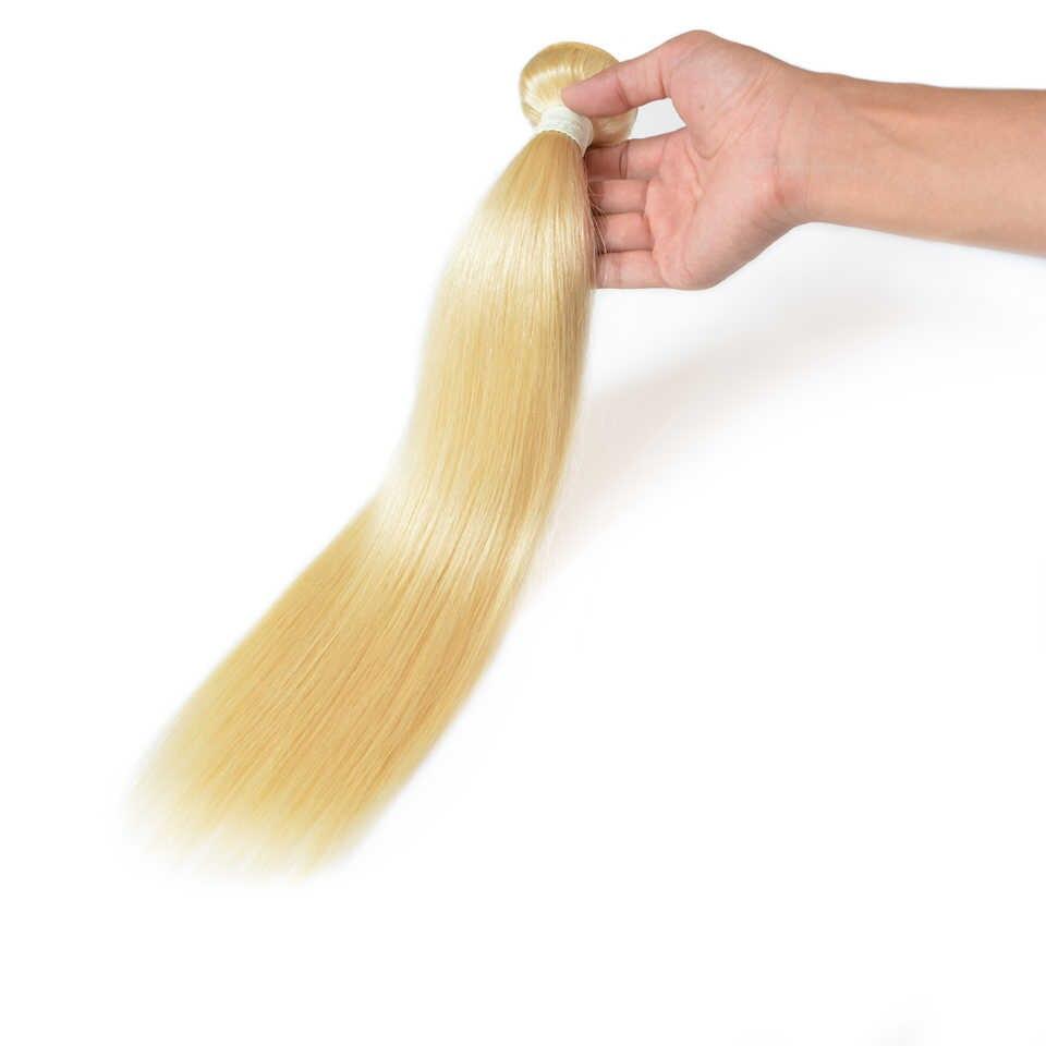 BAISI Haar Brasilianische Gerade 613 Blonde Farbige Remy Haarwebart 100% Menschliches Haar Extensions