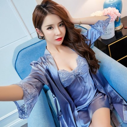 Satin Pajamas for Women 2018 Fashion Lace Sleepwear Female Sexy Elegant Women Pyjamas Silk Pajamas HIgh Quality Women Pijama
