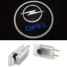 2Pcs LED Ghost Shadow Light Welcome Lamp Logo Laser Projector Car LED Door Warning Light For Opel Insignia