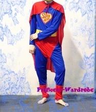 Хэллоуин рождественский подарок настоящему 3 шт. супермен герой человек подростков взрослых ну вечеринку костюм установить