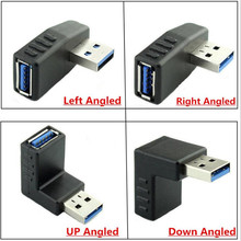 USB 3.0 extended elbow USB 3.0 AM*AF Adapter for mobile computer data cable connection usb 3 0 am to af extension cable 90cm length