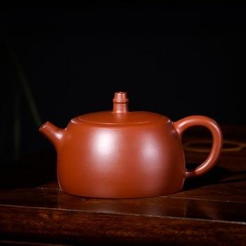 210ml Authentic Yixing purple clay pot famous handmade Zhu mud Xi shi tea pot Kung Fu tea kettle tea gift set Custom Teapot