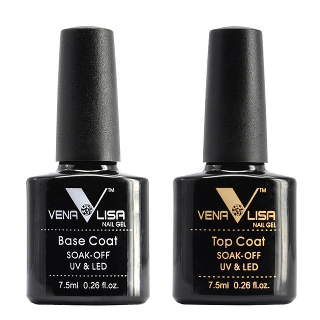 Free Shipping Nail Art Design Manicure Venalisa New 60 Color 7.5Ml Soak Off Gel Polish LED UV Gel Nail Polish Gel Lacquer