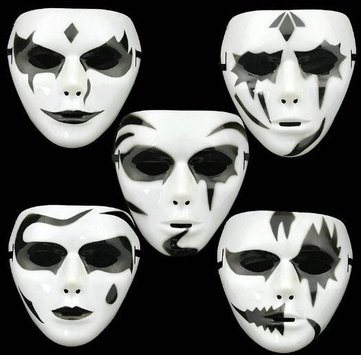 hiphop blanco mscara de halloween terror mueca mscaras del partido de danza de baile mujeres de los hombres adultos de la car