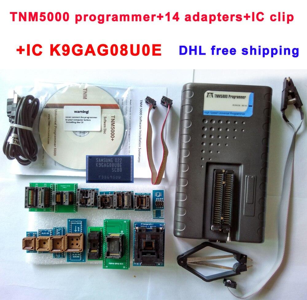TNM5000 USB Programmer NAND 25 flash EEPROM MCU PLD CPLD FPGA ISP JTAG SOP8 socket SOP28