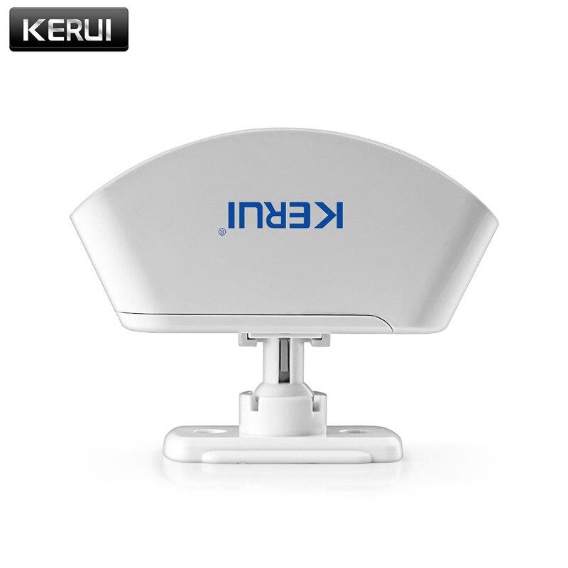 KERUI P817 Sem Fio Cortina Detector Infravermelho Sensor PIR Detector de Movimento Do Sistema De Alarme do Assaltante Detector Para Sistema De Alarme KERUI