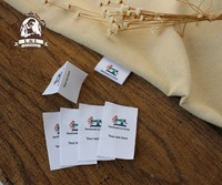 Custom Folded Sewing Labels Handmade Labels Country Name Date Manufacturing Area Cotton Ribbon Tags