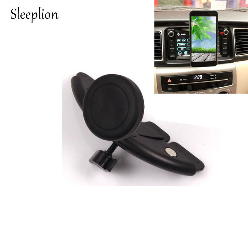 Sleeplion <font><b>Car</b></font> CD Mount Mobile <font><b>Phone</b></font> Magnetic Holder Rotable Stable Bracket Hands Driving Vertical Mobile <font><b>Phone</b></font> <font><b>Stand</b></font> Holder