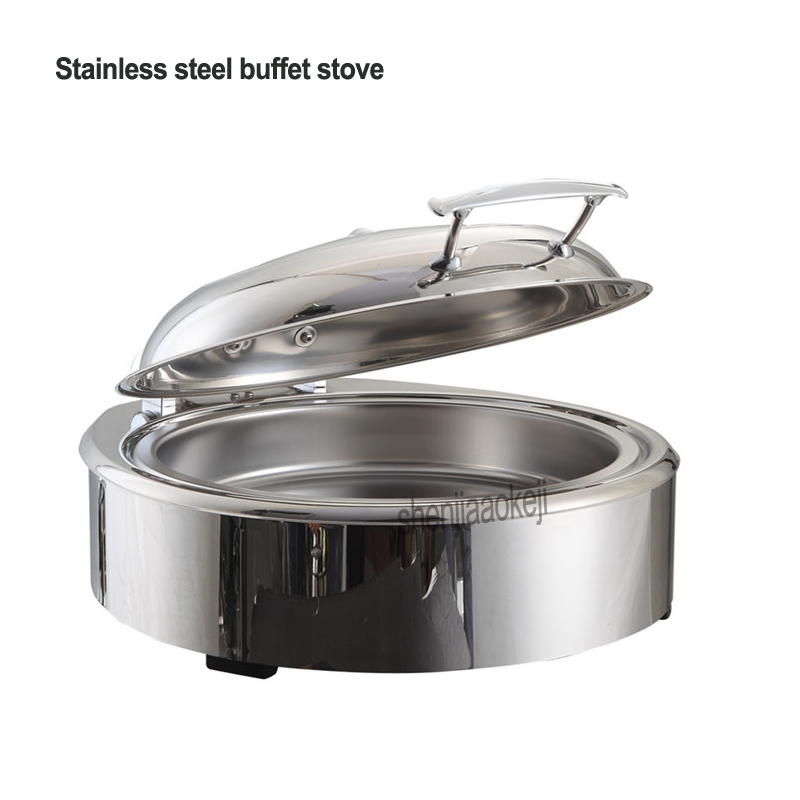 Stainless steel buffet stove Electric heating hotel buffet tableware Temperature adjustable Restaurant insulation furnace 220vStainless steel buffet stove Electric heating hotel buffet tableware Temperature adjustable Restaurant insulation furnace 220v