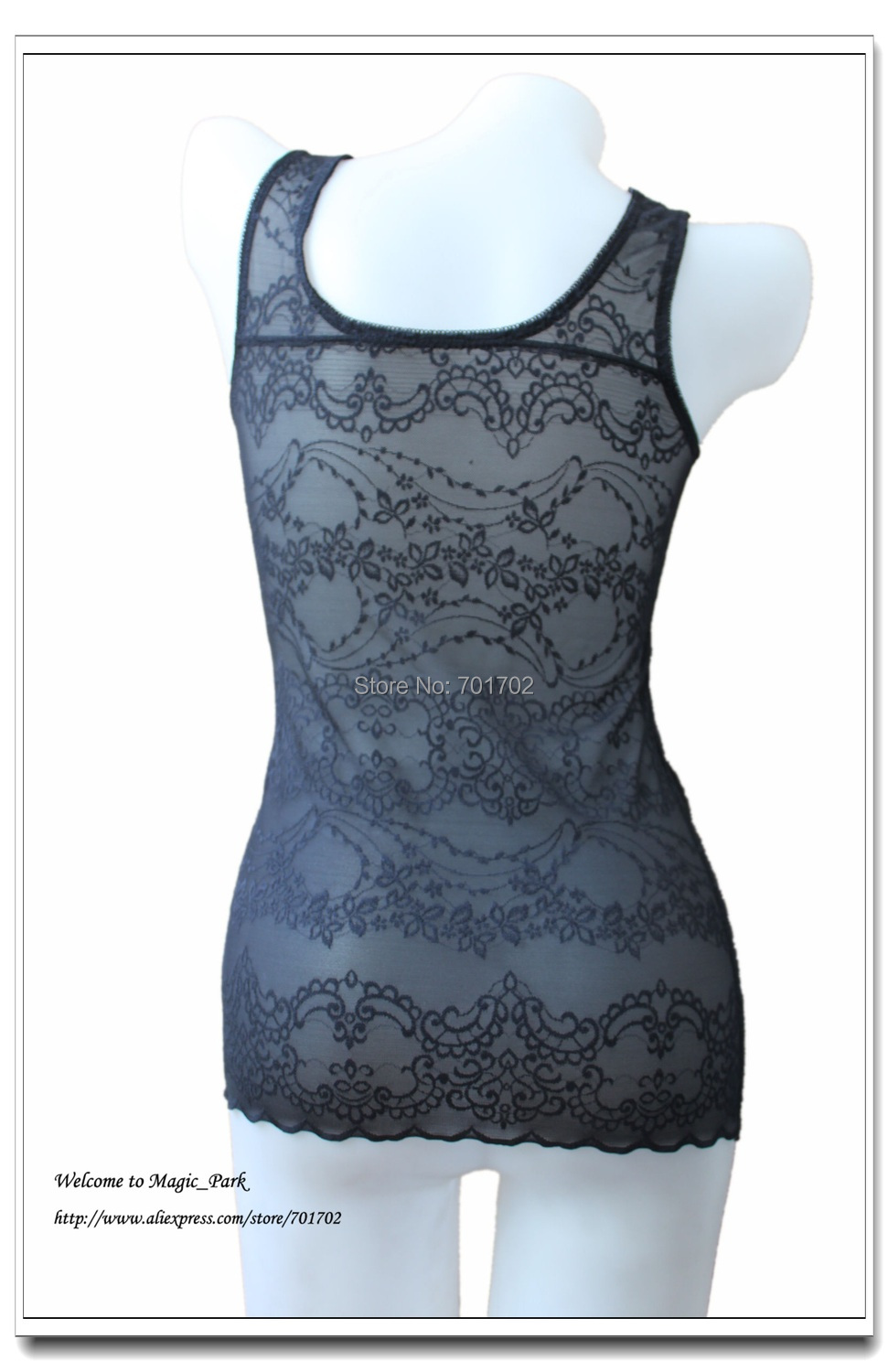 Sexy Lace Tanks Tops Camis Basic Floral Clothes Underwear TANK TOP Camisole Underbust Black Tight Tops Free Shipping (4).jpg