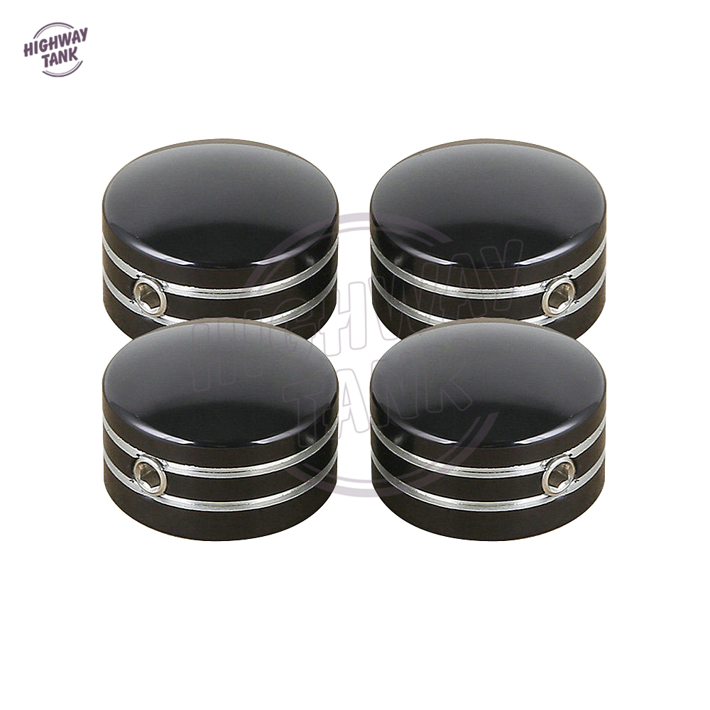 4 Pcs Black Motorcycle Head Bolt Covers case for Harley Sportster XL883 XL1200 Twin Cam Big Twin 1340 Evo