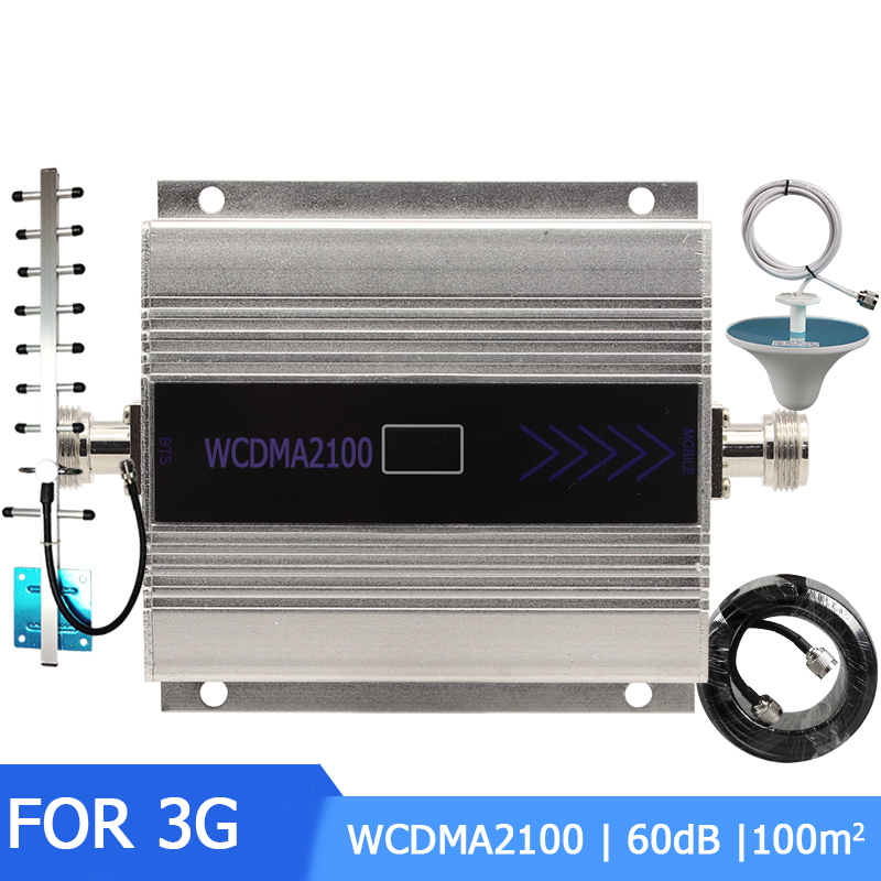 3G Ripetitore 2100MHz Repeater 60dB LCD WCDMA Mobile Phone mini Signal Booster Cell Phone Signal Booster Amplifier HOME OFFICE in Signal Boosters from Cellphones Telecommunications