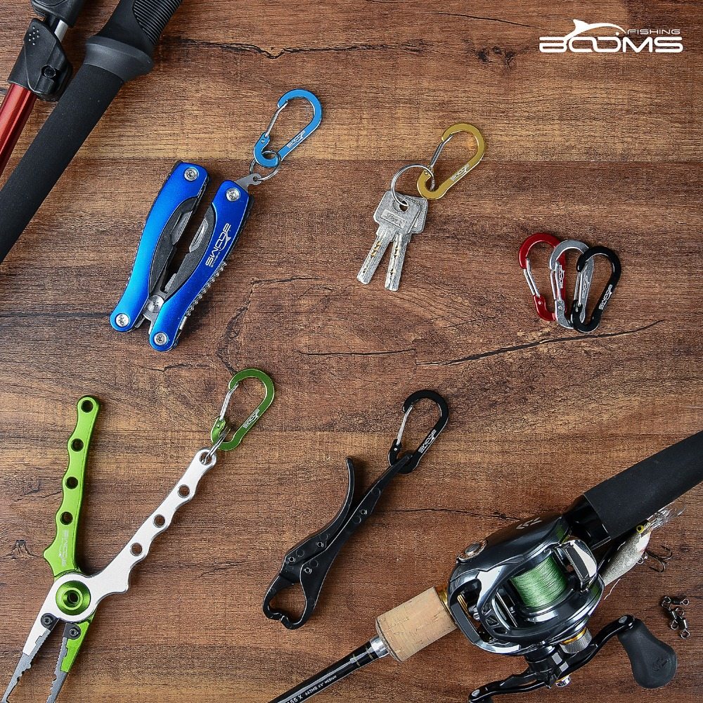 Image 3 - Booms Fishing CC1 6Pcs Aluminum Alloy Carabiner Keychain Outdoor Camping Climbing Snap Clip Lock Buckle Hook Fishing Tool 6Color-in Climbing Accessories from Sports & Entertainment