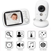 Video Baby Monitor Camera with Full Color and Automatic Night Vision 3.5 LCD monitor Two Way Talk Back, High Capacity Battery
