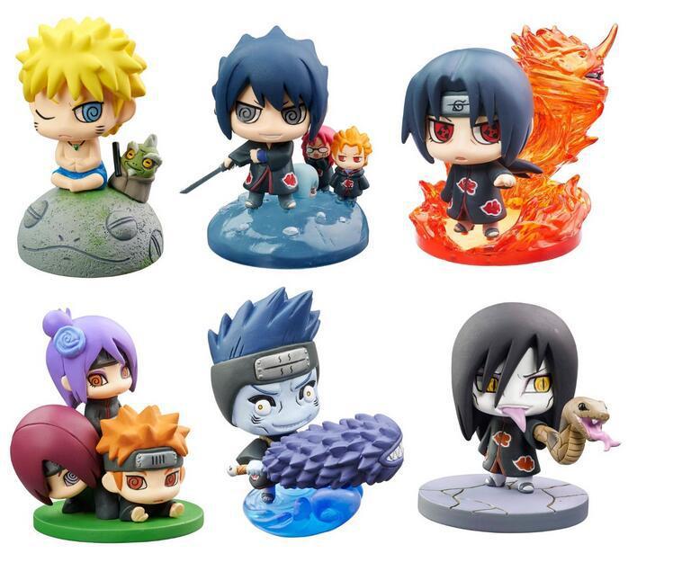 anime naruto 6pcs / sets Megahouse Uzumaki Naruto model toys decoration pvc collection toy