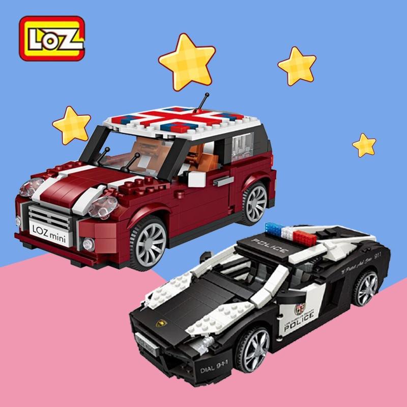 LOZ Car Model Mister Softee Ice Cream Car Mini Blocks Diamond Nano Building Toy