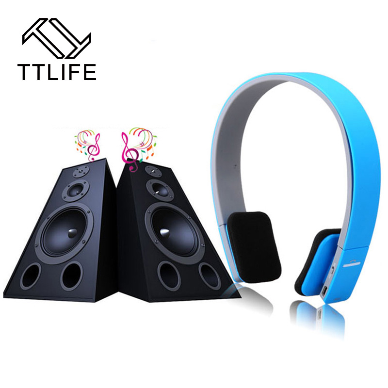 TTLIFE Wireless Bluetooth Headphones Earphone Earbuds Stereo Handsfree Headset with Mic Microphone for Cellphone