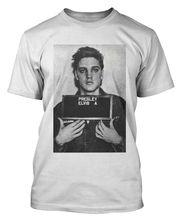 ELVIS T SHIRT PRESLEY MUG SHOT T-SHIRT THE KING ROCK N ROLL MENS WOMENS 100% Cotton Geek Family T-Shirt Short Sleeve