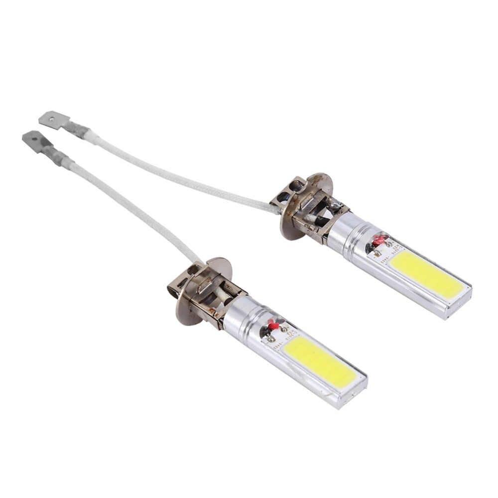 1 пара H3 COB светодиодный яркий 6000 К авто фары свет лампы 12В 10 Вт