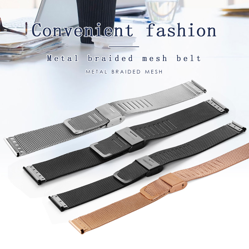 OLEVS Ultra Thin Wristwatch Watchbands Black/Steel/Rose Gold Color Stainless Steel Mesh Strap For Women/Men Watch Steel Belt 58G