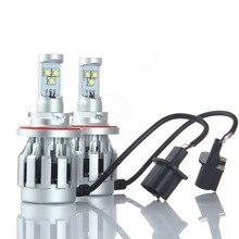 POPNOW Car Headlight H13 Hi/Lo Beam Auto Headlight Bulbs White Beam 50W 12V-24V Head Lamp Bulbs All In One #5039