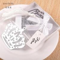 Hot Crown Flower Tassels Bookmark Wedding birthday Christening girl boy Baby Shower Favor girl baby shower souvenirs party gift