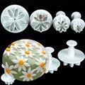 DIY Handcraft Clay Playdough Tool Toys Daisy Flower Sunflower Plunger Cutter Playdough Tools Toys 4Pcs/Set