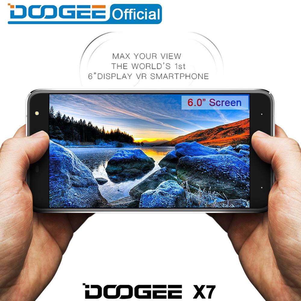 Doogee X7 mobile phones 6 0Inch HD 2 5D IPS 1GB RAM 16GB ROM Android6 0