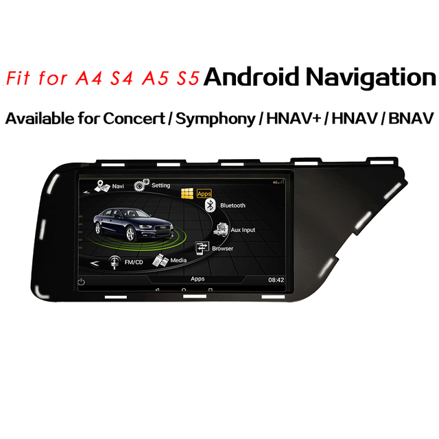 OZGQ Android 6.0 System Octa Core Car Multimedia Radio Player Headunit Autoradio GPS Navigation For Audi 2009-2016 A4 With Map