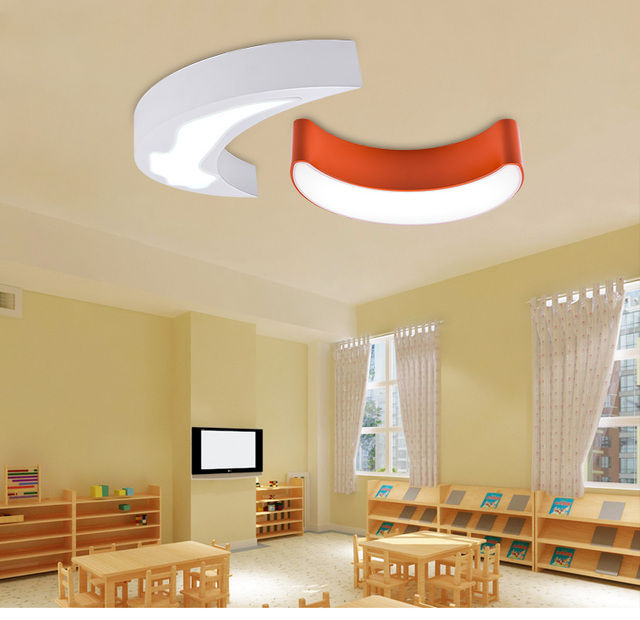 Modern Led moon light for Baby room reading room 1 pcs colored iron ...