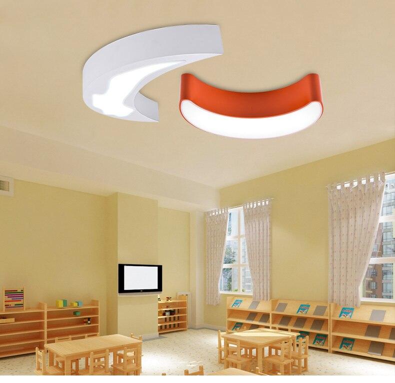 Moderne Led maan licht voor Baby leeszaal 1 stuks gekleurde iron led-paneel Licht Slaapkamer Balkon binnenverlichting Verlichting
