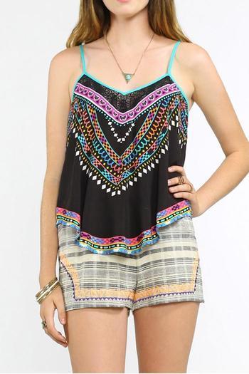 2016 Verão Estilo Dashiki Tanques & Camis Para Mulheres Étnica Boho Chic Top Colheita Camiseta Print tee FT163