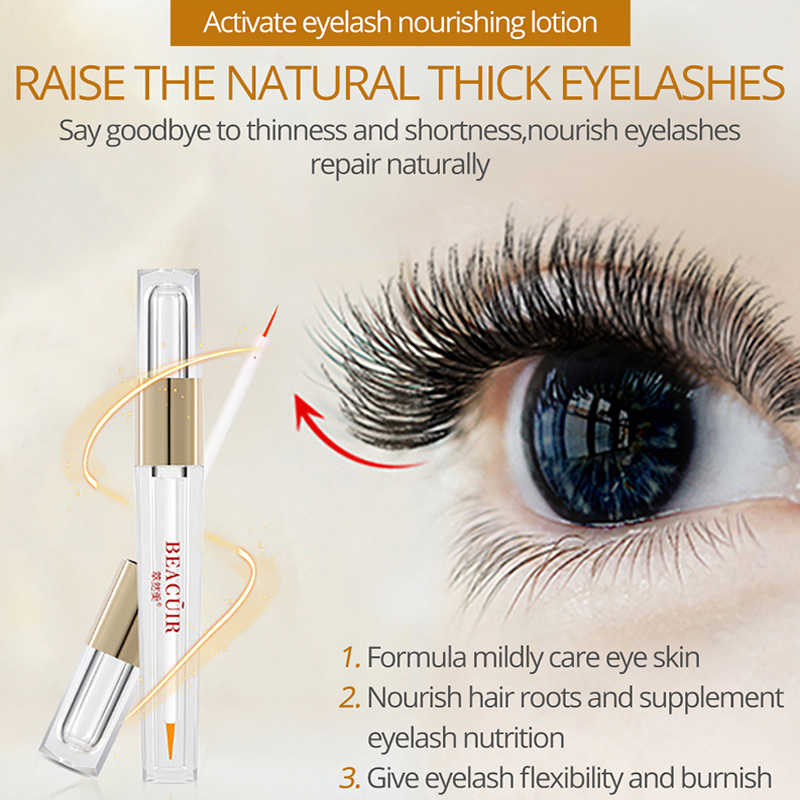 9512d50a61e ... BEACUIR Nature Eyelash Growth Serum 7 Day Eyelash Enhancer Longer  Fuller Thicker Lashes Eyelashes&Eyebrows Enhancer Eye ...