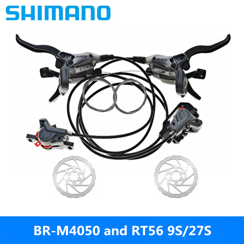 Competent Shimano Alivio Br-m4050 9s/27s 85cm-145cm Oil Brake Mountain Bike Finger Dial One Disc Brake Latest Original And Rt56 Disc Buy One Get One Free Sports & Entertainment Bicycle Parts