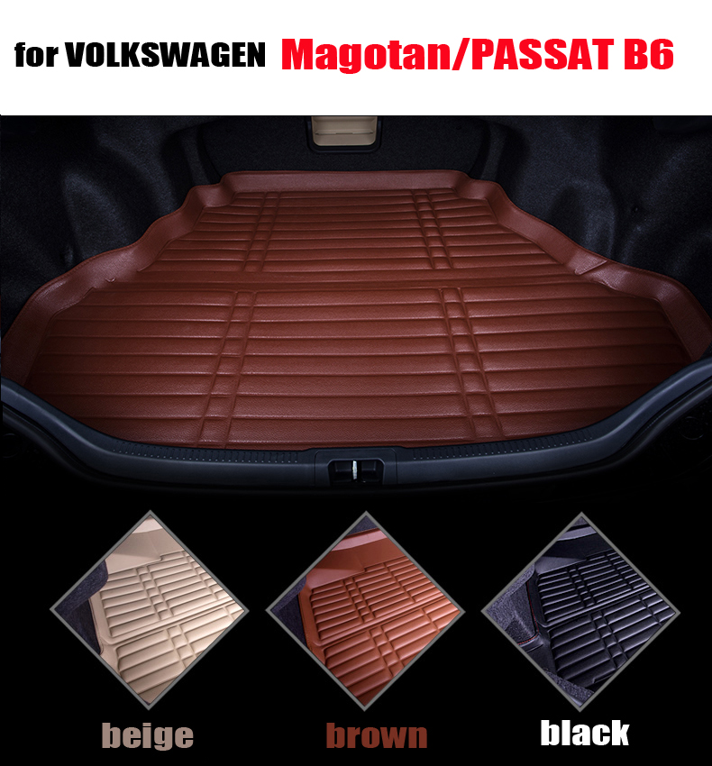 car trunk liner for VW old magotan/ passat B6 2007-2011 leather trunk pad  cargo liner auto accessories all weather car mats car rear trunk security shield cargo cover for volkswagen vw tiguan 2016 2017 2018 high qualit black beige auto accessories