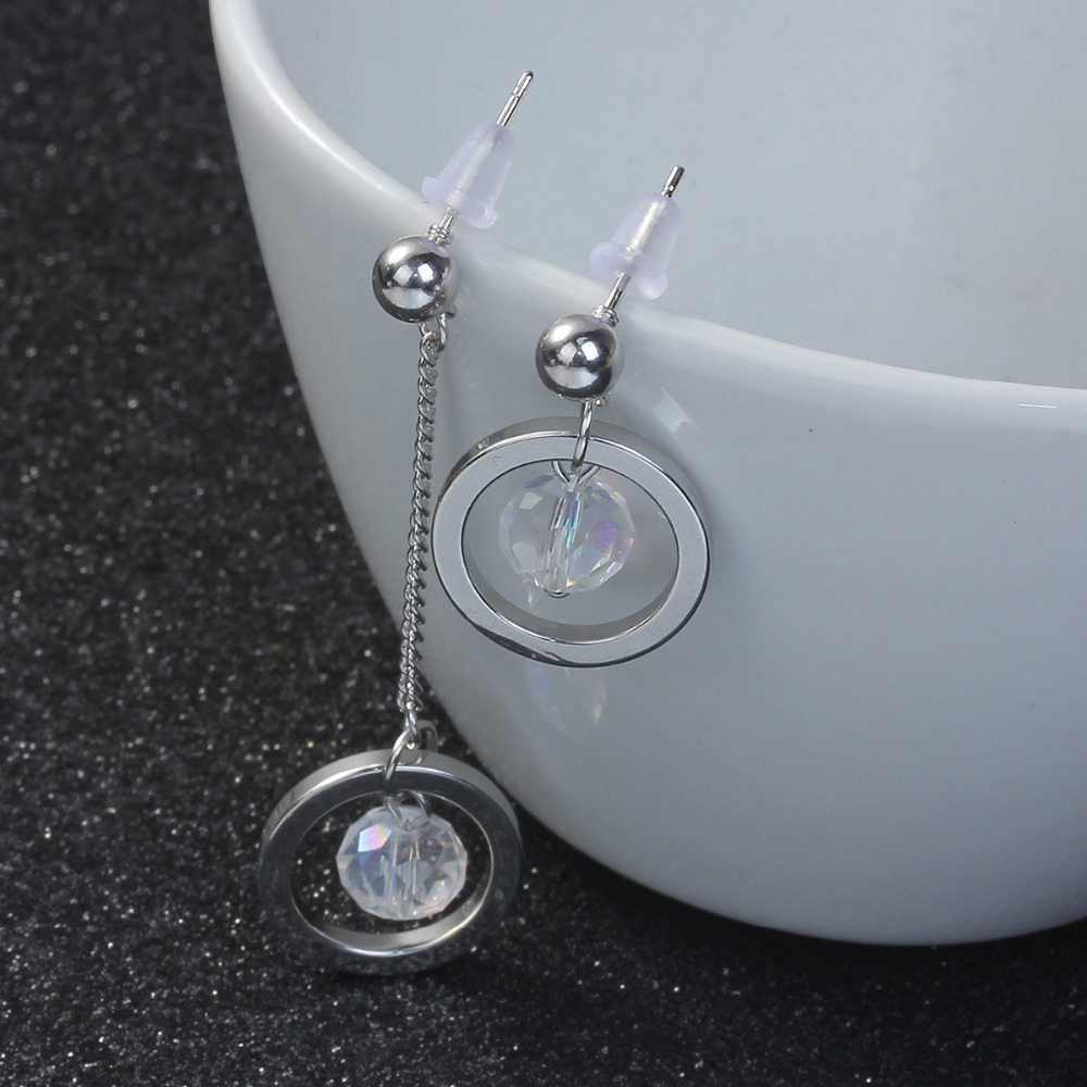 Doreen Box Korean Fashion Earrings 2 Colors AB Color Circle Ring ...