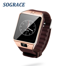 SOGRACE Smart Watches 3Color DZ09 Smartwatch 2018 Watch Phone SMART Clock Passometer dz09 bluetooth Smart Watch Android Wear Y24