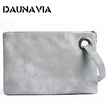 DAUNAVIA fashion women's clutch bag PU leather women envelope messenger bags clutch evening bag for female Clutches Handbags