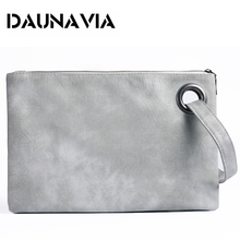 c4c689146d19ed DAUNAVIA fashion women's clutch bag PU leather women envelope messenger bags  clutch evening bag for female
